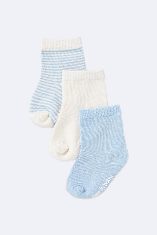 Chalk/Sky Blue / 0-3 Months Boody Baby Socks - Naked Baby Eco Boutique