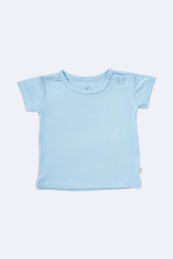 Boody Baby T-Shirt organic bamboo bay top in sky blue