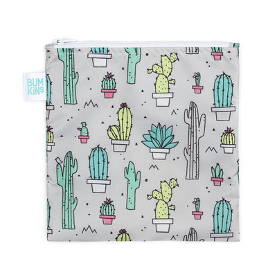 Cacti Bumkins Large Reusable Snack Bags (Multiple Variants) - Naked Baby Eco Boutique