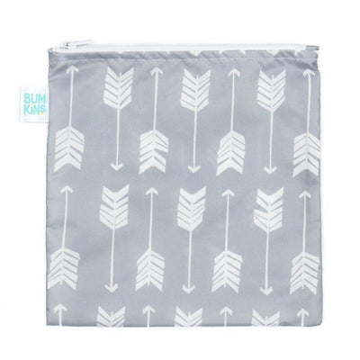 Grey Arrow Bumkins Large Reusable Snack Bags (Multiple Variants) - Naked Baby Eco Boutique
