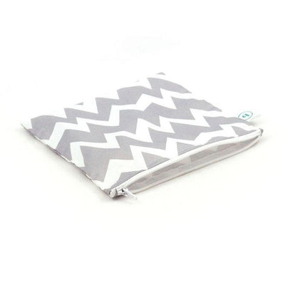 Grey Chevron Bumkins Large Reusable Snack Bags (Multiple Variants) - Naked Baby Eco Boutique