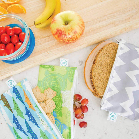 Bumkins Small Reusable Snack Bags (2-Pack) - Multiple Styles