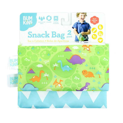 Clouds/Raindrops Bumkins Small Reusable Snack Bags (2-Pack) - Multiple Styles - Naked Baby Eco Boutique