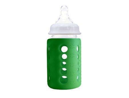 240 ml / Dark Green Cherub Baby Glass Baby Bottle - Single - GREEN - 240 ml - DAMAGED BOX - Naked Baby Eco Boutique