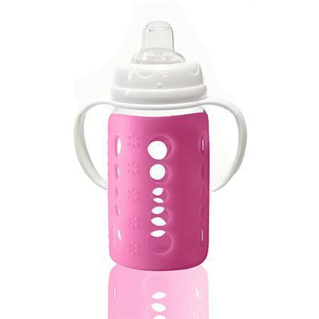 Cherub Baby Wide-Neck Glass Baby Bottles easily convert to sippy cups with the adaptor