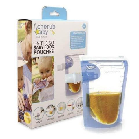 Cherub Baby On the Go Reusable Baby Food Pouches - 20 Pack - Naked Baby Eco Boutique