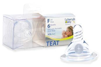 Cherub Baby Wide-Neck Baby Bottle Teats - Anti-Colic - Come in a pack of 2