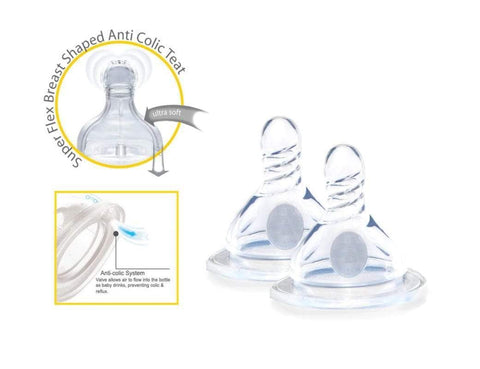 Cherub Baby Wide-Neck Baby Bottle Teats - Anti-Colic system reduces nasty gas bubbles