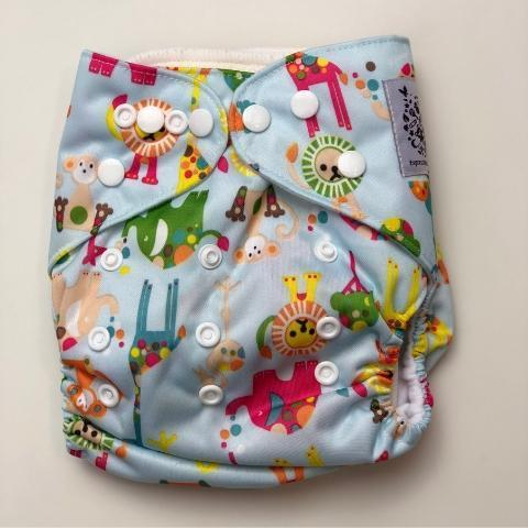 Express the Best Cloth Re-usable Nappy Pack - Colourful Jungle - Naked Baby Eco Boutique