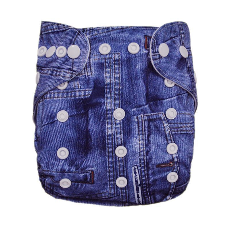 Express the Best Cloth Re-usable Nappy Pack - Denim - Naked Baby Eco Boutique