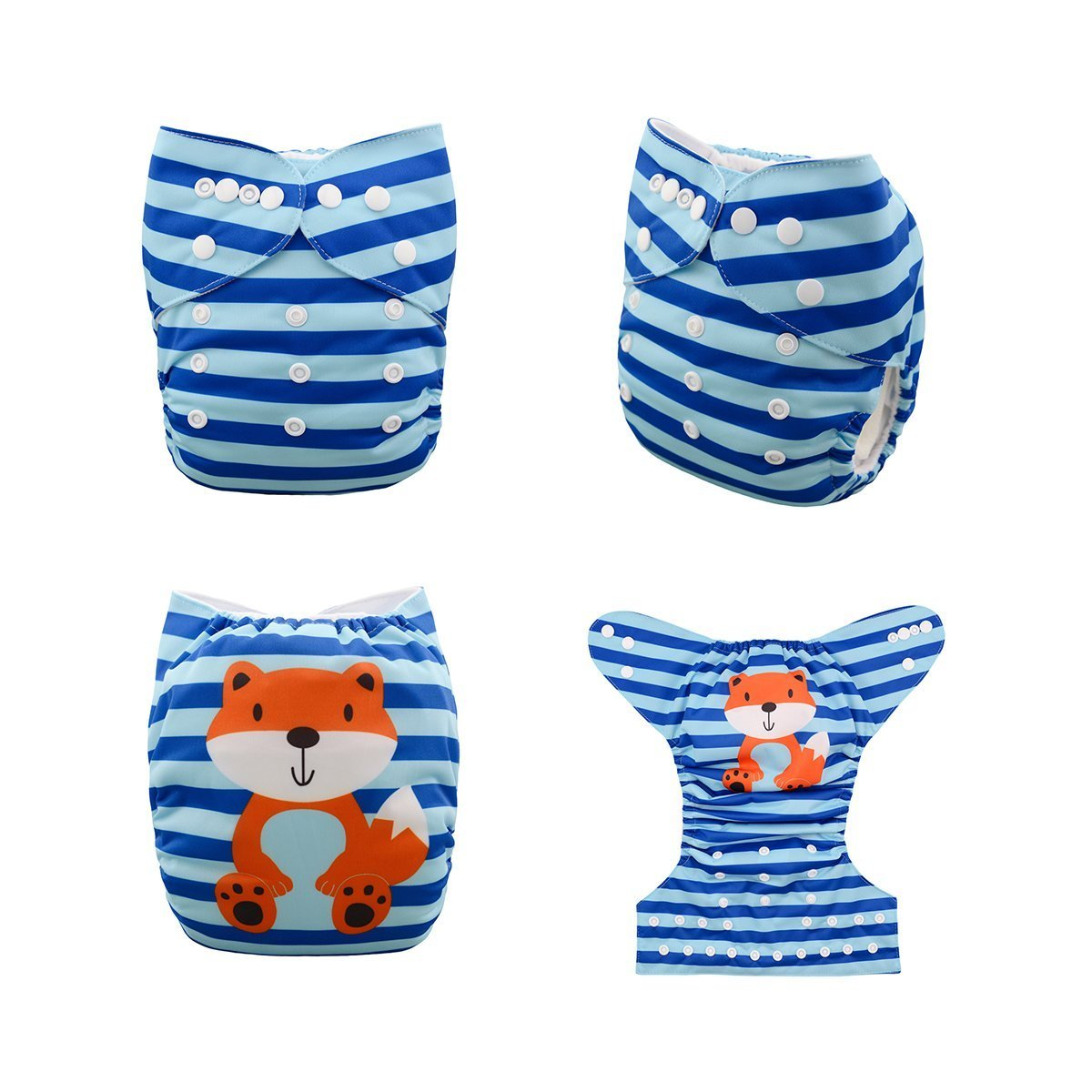 Express the Best Cloth Re-usable Nappy Pack - Foxy - Naked Baby Eco Boutique