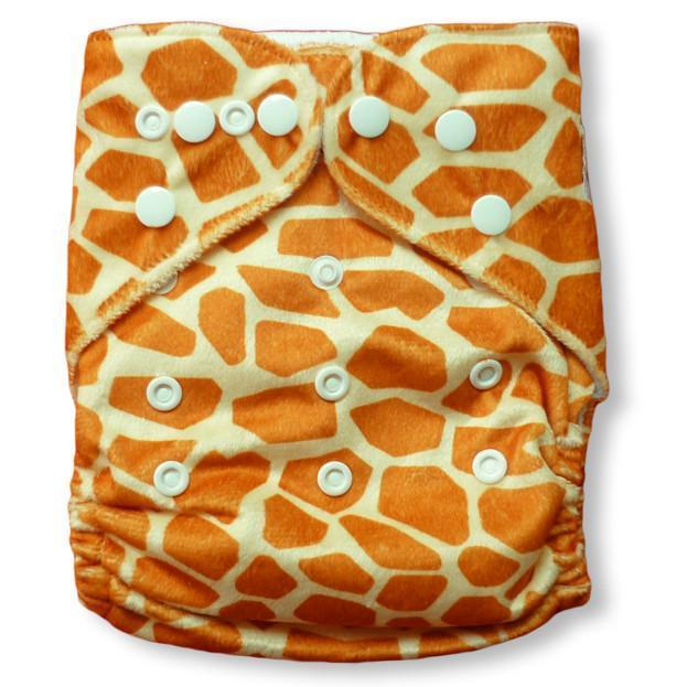 Express the Best Cloth Re-usable Nappy Pack - Giraffe - Naked Baby Eco Boutique