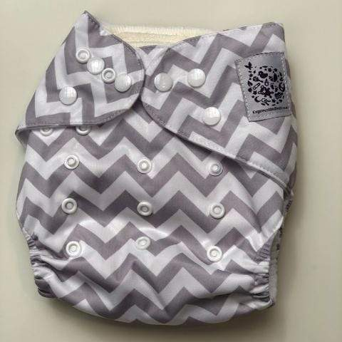 Express the Best Cloth Re-usable Nappy Pack - Grey Chevron - Naked Baby Eco Boutique