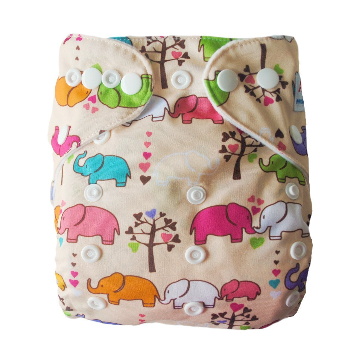 Express the Best Cloth Re-usable Nappy Pack - Happy Elephants - Naked Baby Eco Boutique