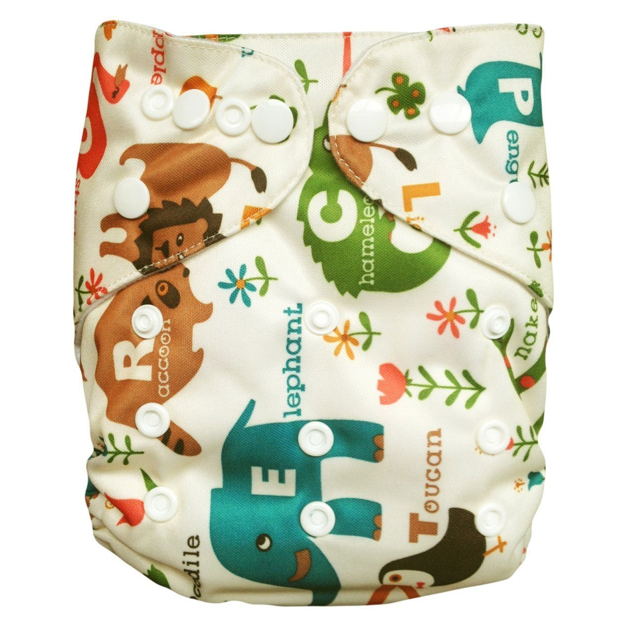 Express the Best Cloth Re-usable Nappy Pack - Jungle Alphabet - Naked Baby Eco Boutique