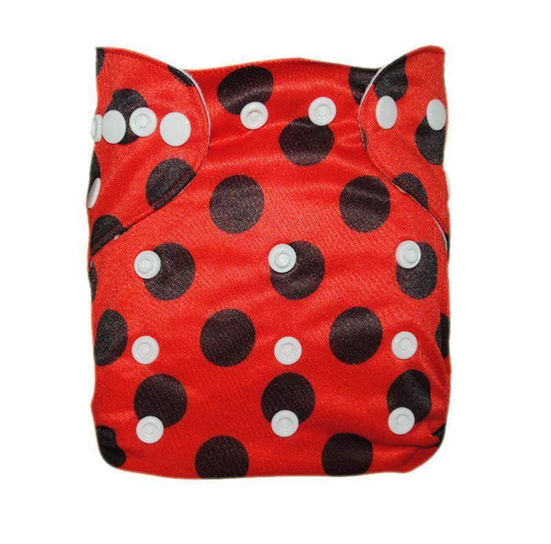 Express the Best Cloth Re-usable Nappy Pack - Ladybug - Naked Baby Eco Boutique