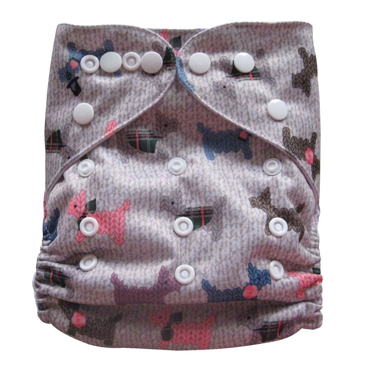 Express the Best Cloth Re-usable Nappy Pack - Little Dogs - Naked Baby Eco Boutique