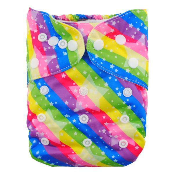 Express the Best Cloth Re-usable Nappy Pack - Rainbow Stars - Naked Baby Eco Boutique