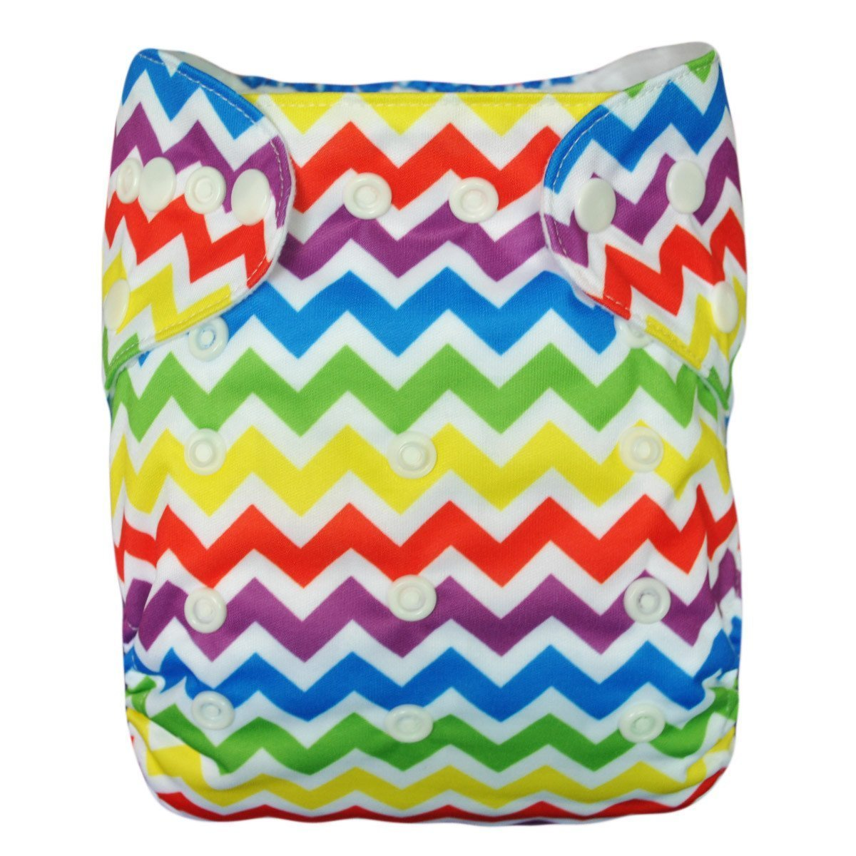 Express the Best Cloth Re-usable Nappy Pack - Rainbow Zig Zag - Naked Baby Eco Boutique