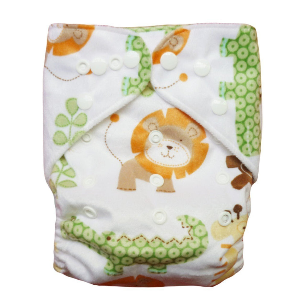 Express the Best Cloth Re-usable Nappy Pack - Safari Animal Adventure - Naked Baby Eco Boutique - New Zealand Eco Friendly Organic Baby Products