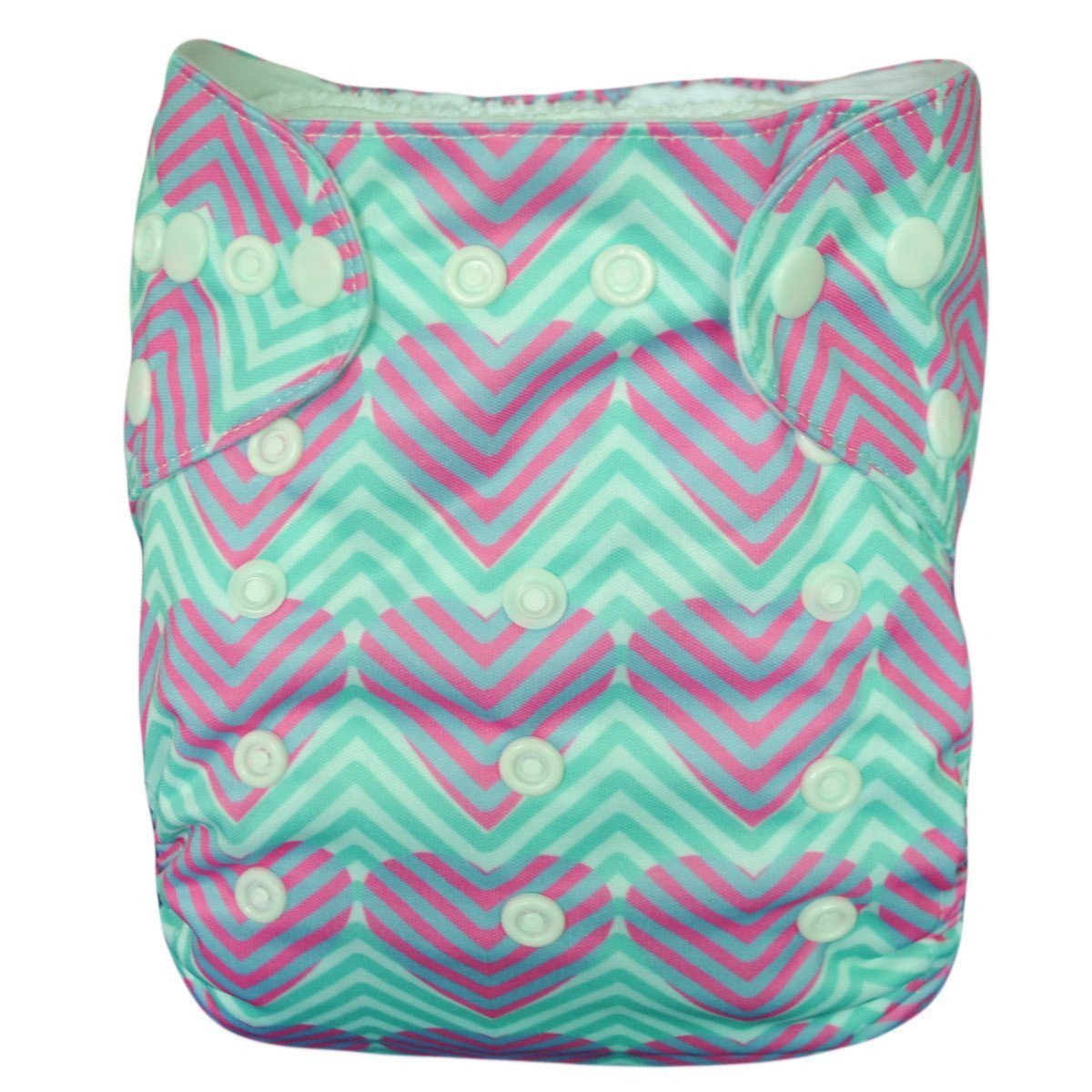 Express the Best Cloth Re-usable Nappy Pack - Zig Zag Hearts - Naked Baby Eco Boutique