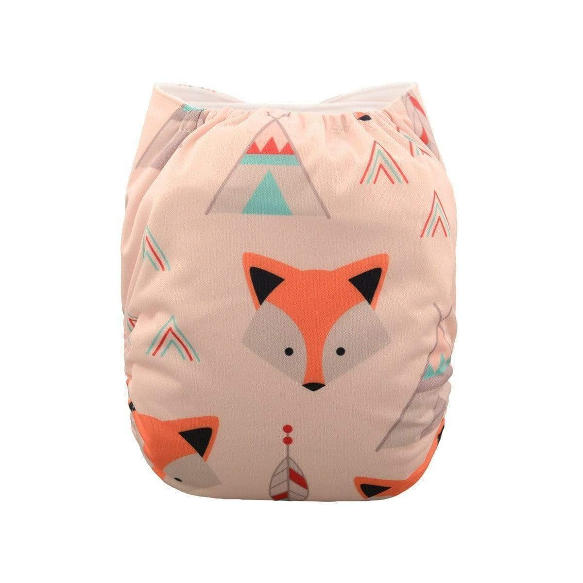Express the Best Reusable Modern Cloth Nappy - Pink Foxy - Naked Baby Eco Boutique
