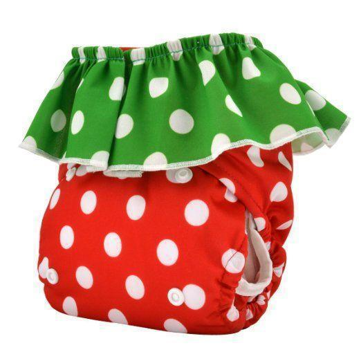 Express the Best Reusable Modern Cloth Nappy - Strawberry - Naked Baby Eco Boutique