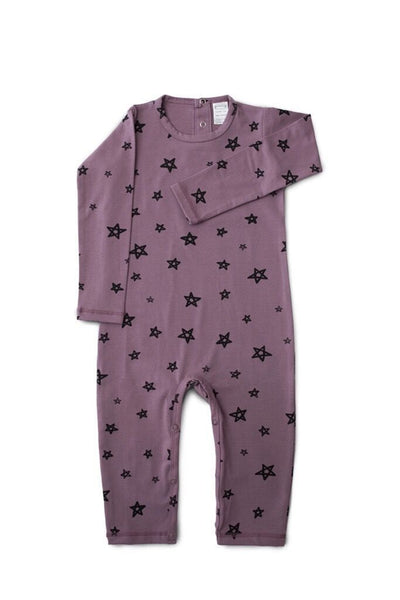 0-3 Months G.NANCY Organic Cotton Star Romper - Naked Baby Eco Boutique