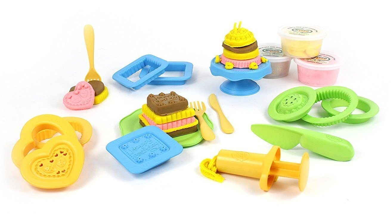 Cake Maker Green Toys Playdough Activity Sets (Multiple Variants) - Naked Baby Eco Boutique