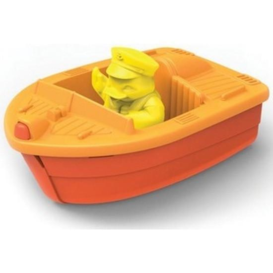Green Toys Race Boat - Orange - Naked Baby Eco Boutique
