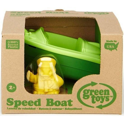 Green Toys Speed Boat - Green - Naked Baby Eco Boutique