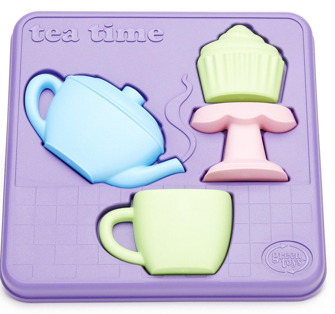Green Toys Tea Time 3D Puzzle Set - Naked Baby Eco Boutique - New Zealand Eco Friendly Organic Baby Products - 1