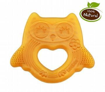 Haakaa Natural Rubber Teether - Smiling Owl - Naked Baby Eco Boutique - New Zealand Eco Friendly Organic Baby Products - 1