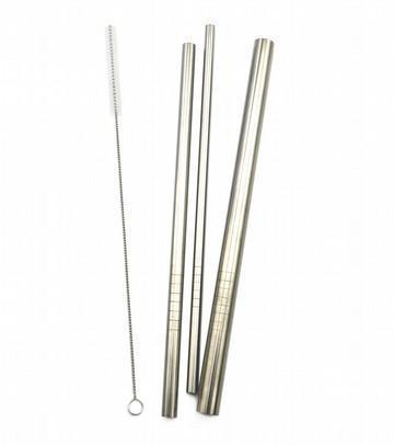 Curved Haakaa Reusable Stainless Steel Straw Set (Multiple Styles) - Naked Baby Eco Boutique