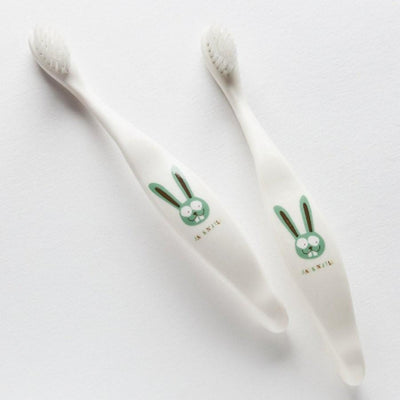 Green Bunny Jack N' Jill Biodegradable Toothbrush (Multiple Variants) - Naked Baby Eco Boutique
