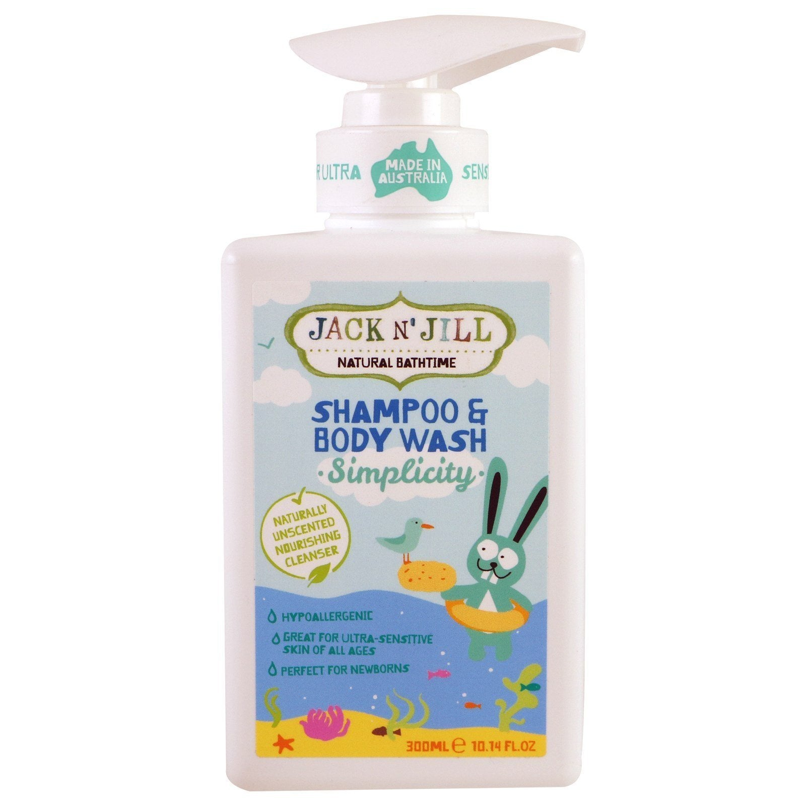 Jack N' Jill Natural Bathtime Simplicity Shampoo & Body Wash - Naked Baby Eco Boutique