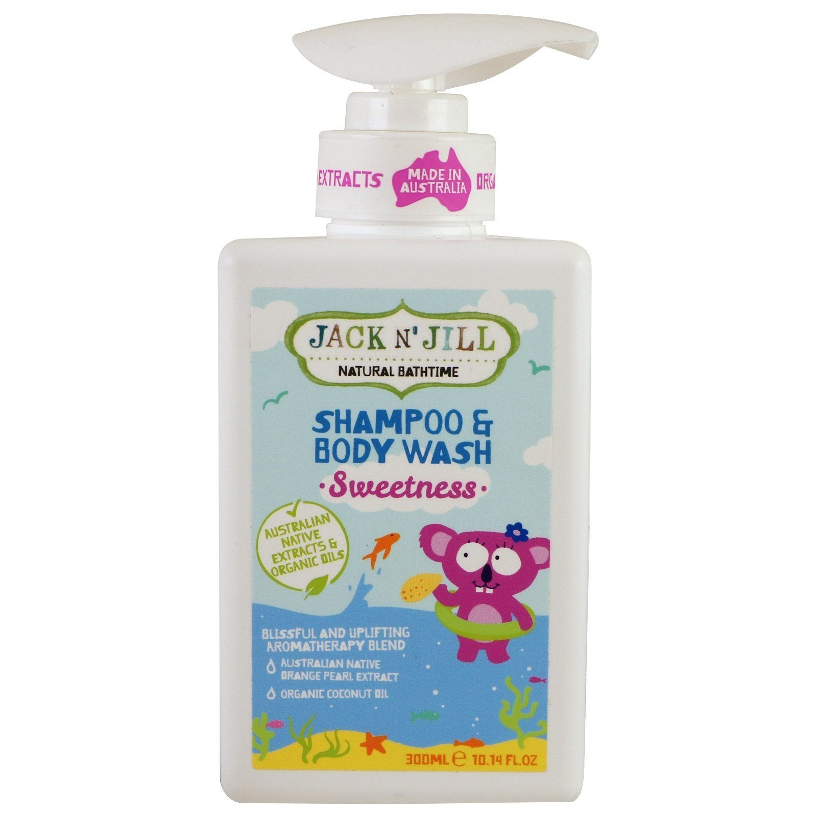 Jack N' Jill Natural Bathtime Sweetness Shampoo & Body Wash - Naked Baby Eco Boutique