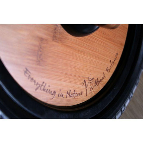 Close-up shot of the wheel for the Kinderfeets Classic Bamboo Balance Bike