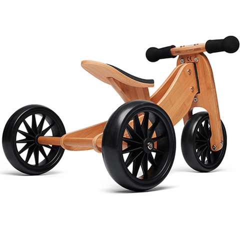 Kinderfeets Tiny Tots 2-in-1 Tricycle/Balance Bike in Bamboo