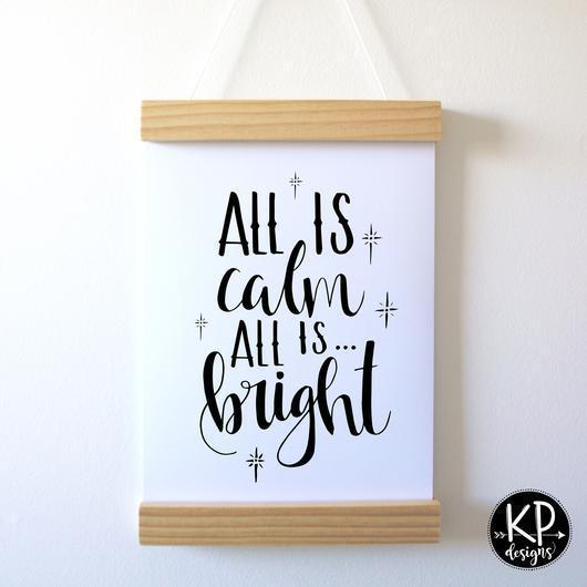 All is Calm KP Designs A4 Holiday Prints - Naked Baby Eco Boutique