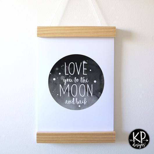 "KP Designs A4 ""Love You"" Print - Naked Baby Eco Boutique"