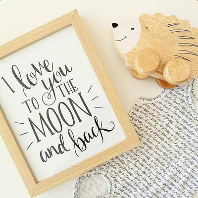 "KP Designs A4 ""To The Moon"" Print - Naked Baby Eco Boutique"