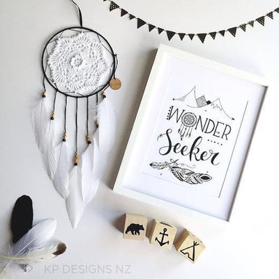 "KP Designs A4 ""Wonder Seeker"" Print - Naked Baby Eco Boutique"