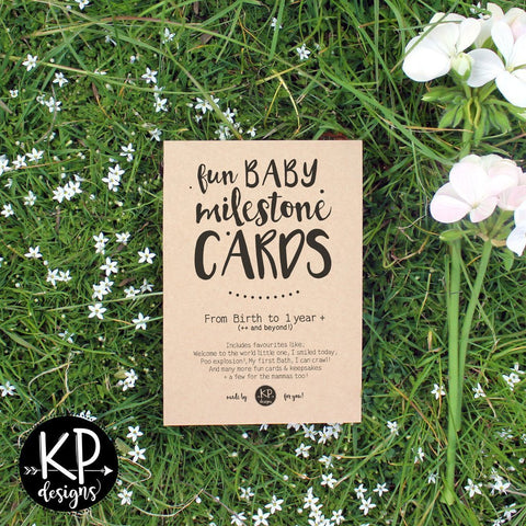 KP Designs Baby Milestone Cards - Naked Baby Eco Boutique - New Zealand Eco Friendly Organic Baby Products - 2