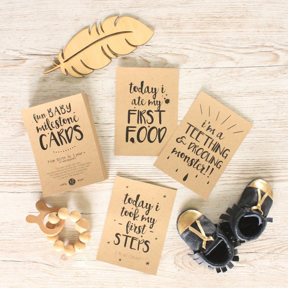 KP Designs Baby Milestone Cards - Naked Baby Eco Boutique