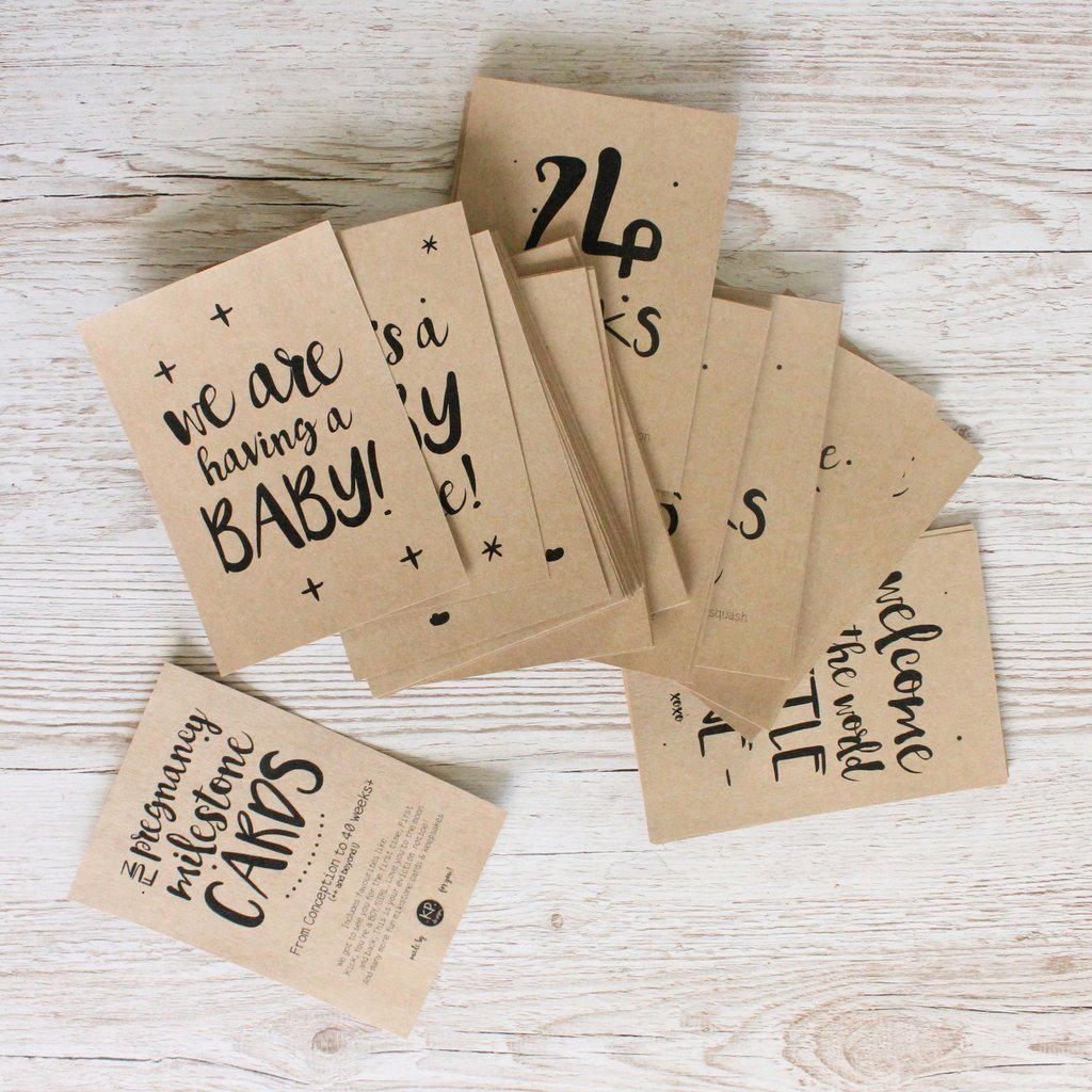 KP Designs Pregnancy Milestone Cards - Small Set - Naked Baby Eco Boutique
