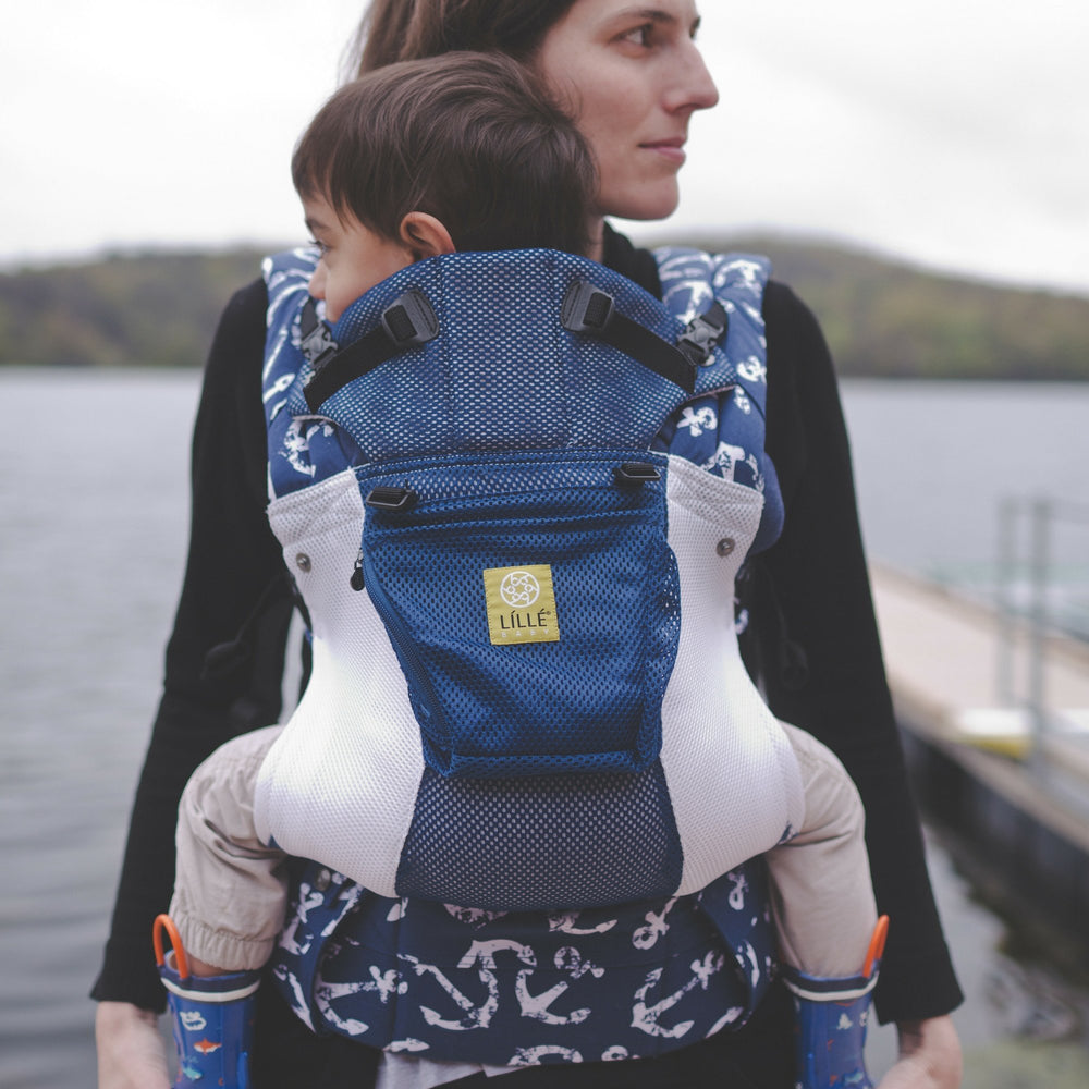 LÍLLÉbaby Complete Airflow Anchor's Away Baby Carrier - Naked Baby Eco Boutique - New Zealand Eco Friendly Organic Baby Products - 1