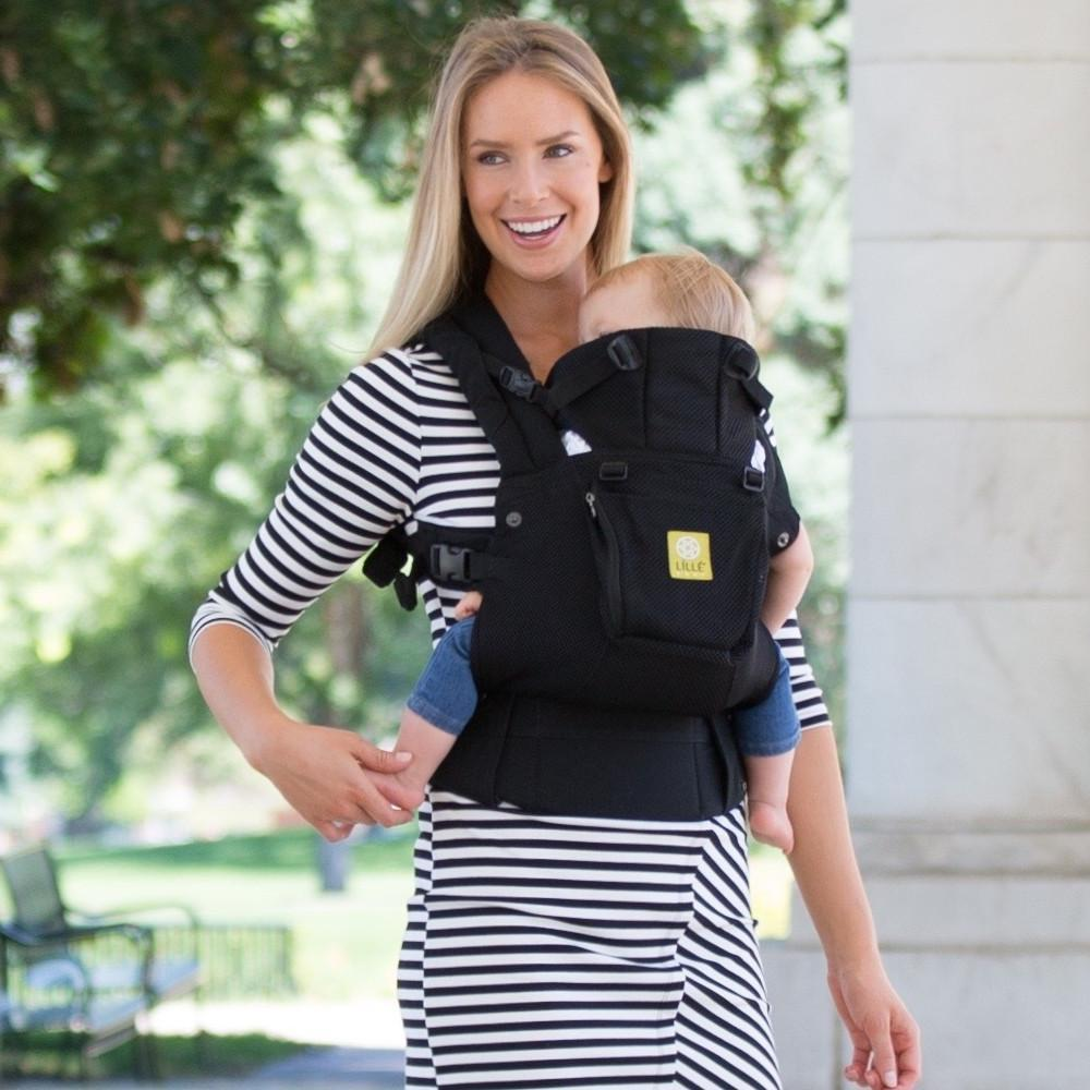 LÍLLÉbaby Complete Airflow Black Baby Carrier - Naked Baby Eco Boutique - New Zealand Eco Friendly Organic Baby Products - 1