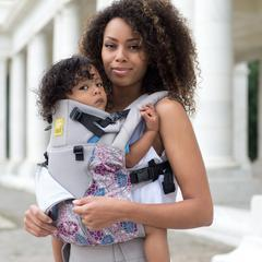 LÍLLÉbaby Complete All Seasons Blue Lagoon Baby Carrier - Naked Baby Eco Boutique - New Zealand Eco Friendly Organic Baby Products - 5