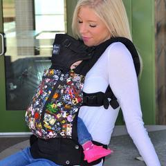 LÍLLÉbaby Complete All Seasons Blue Lagoon Baby Carrier - Naked Baby Eco Boutique - New Zealand Eco Friendly Organic Baby Products - 6